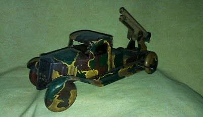Military Tin Toy Truck England.wind Up.litho.no Marklin, Lineol.