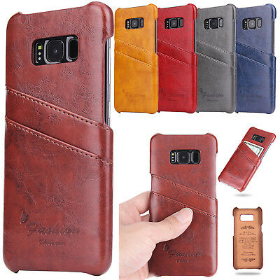 Luxury Leather Card Wallet Protective Back Case Cover For Samsung S8/S9+ /Note 9