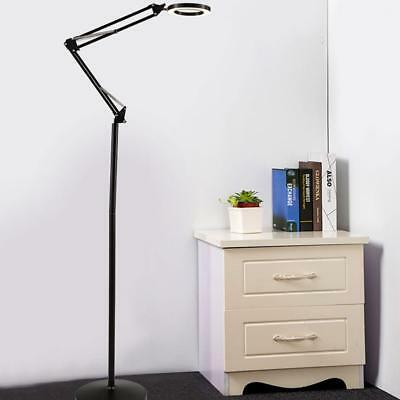 5x Diopter Magnifying Floor Stand Lamp Light Magnifier Glass Beauty Tattoo Loupe