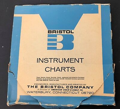 Vtg Bristol Recording Chart 8220 Paper Lot, almost 100 pages