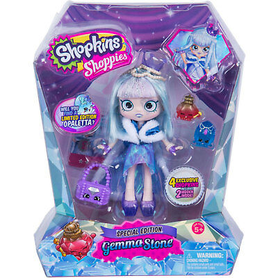 Shopkins Shoppies Special Edition GEMMA STONE Doll with 4 Exclusive Shopkins