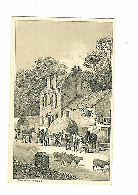 Old Trade Card Light Running Domestic Sewing Machine Half Way House Wagons