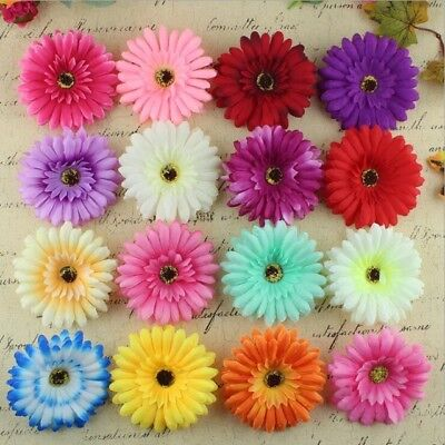 Artificial Gerbera Heads 10cm Silk Wedding Craft Sun Flower- Buy 2 Get 1 FREE