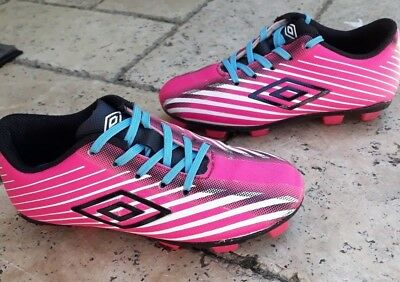 0acb8a383 White Soccer Cleats Size 11 Black Toddler Girl Umbro Pink