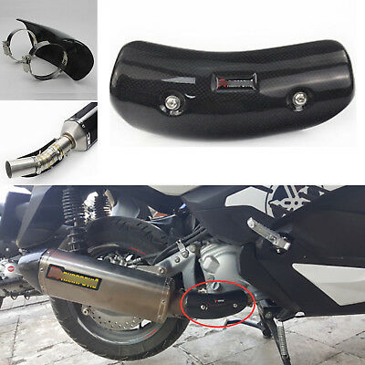Motorbike Exhaust Pipe Heat Shield Cover Carbon Fiber For BMW S1000RR 2009-2016