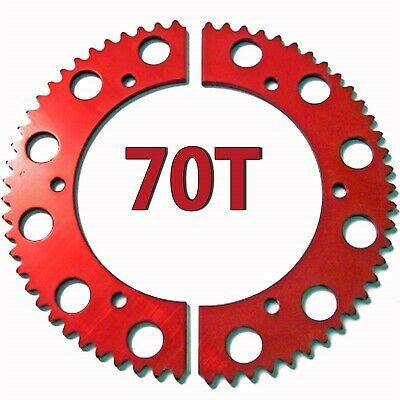 70T Tooth #35 Chain Split Sprocket Racing Go-Kart Fun Cart Barstool Gear RLV