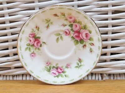 Royal Albert Flower Of The Month June Roses Replacement Coffee Saucers 1970