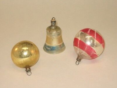 German Antique Glass Figural Bell Christmas Ornament Decoration 1930's