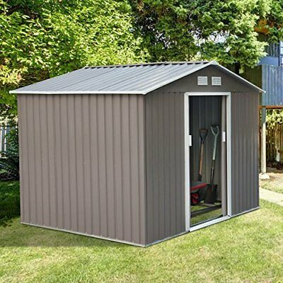 Outsunny 9 ft. W x 6 ft. D Metal Storage Shed