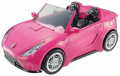 Barbie Glam Convertible Pink Car Doll 2 mattel hot Seats Shine Vehicle Girls
