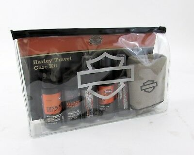 HD OEM Harley Travel Care Kit - Detailing Cloth, Soap, Tire Cleaner, Bug Remover