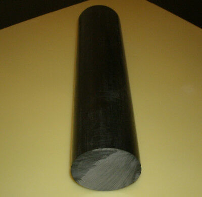 "11-7//8/"" Length x 2/"" Thick Black Nominal Acetal Copolymer Round Rod"