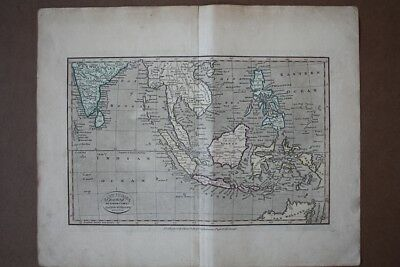 East Indies from the best Authorities, altkolorierter Kupferstich um 1810 von Ki