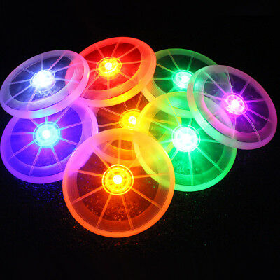 Flying LED Disc Disk Light Up Frisbee Outdoor Pet Supplies Dog Training Toy Fun