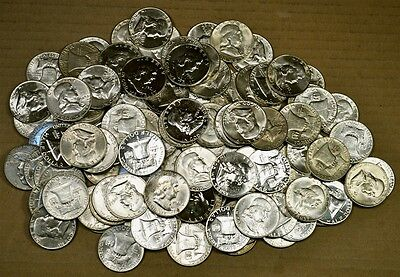 Roll of 20 Mixed 1948 - 1956 PDS AU / Slider / Unc & Proof Franklin Half Dollars