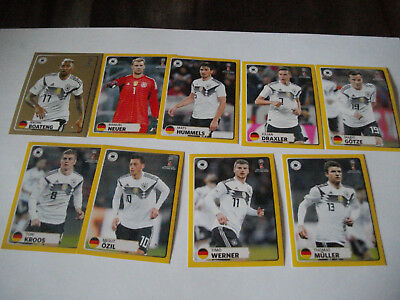 Panini Fussball WM 2018 Russia MC Donalds M1 - M9 Bilder Sticker komplett