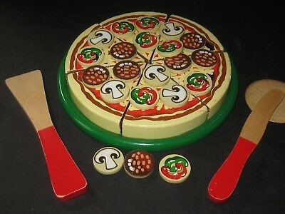 Melissa Doug Wooden Pizza Party Pretend Food Kitchen Toy
