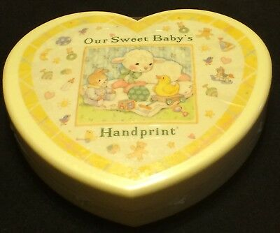 "Our Sweet Baby's Handprint  ""Baby's Hand Print Kit "" New Heart Shaped Box"