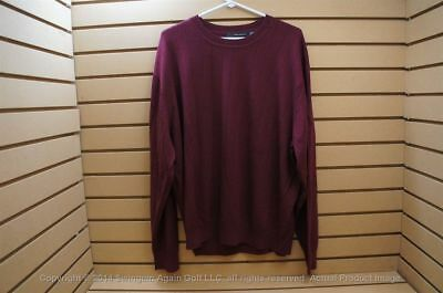 NWTags  Greg Norman LS Crew Neck 100% Wool Sweater XX-Large Maroon 103467 66c