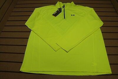 NEW Under Armour Golf 1/4 Zip Performance Pullover Mens XXL Neon Yellow 88c