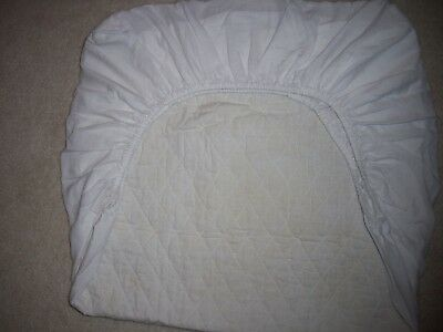 Summer White Quilted Toddler Bed Crib Mattress Pad Cover