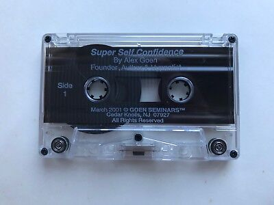 Super Self Confidence Cassette Tape by Alex Goen
