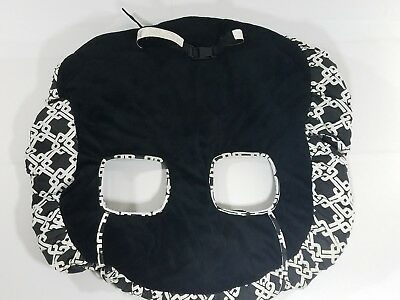Floppy Seat Ultra Plush Shopping Cart & High Chair Cover Black & White With Bag