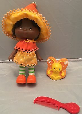 Vintage Strawberry Shortcake Orange Blossom Doll & Pet Marmalade Butterfly AGC