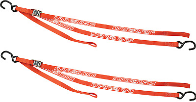 Moose Racing 7' Heavy Duty Tie Downs W/Soft Tie Orange (3920-0358)