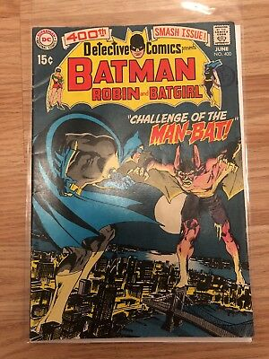DC Batman Detective Comics #400 1970 first Man-Bat Neal Adams art