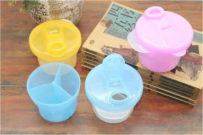 Portable Baby Formula Dispenser Bottle Feeding Snack Fruit 3 Sect Container Case