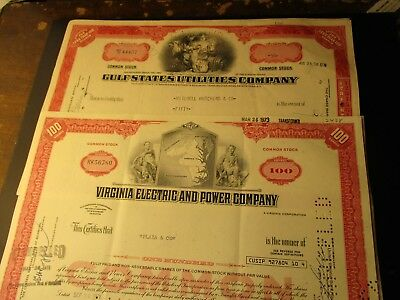 7 diff. Stock Certificates and a 1912 Telegram Vintage Beautiful Old a