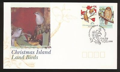 Christmas Island FDC 1996 Land Birds