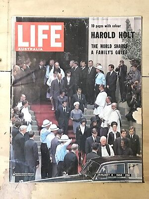 Vintage LIFE AUSTRALIA Newspaper 1968 HAROLD HOLT Death & Vietnam War Vol 44, #1
