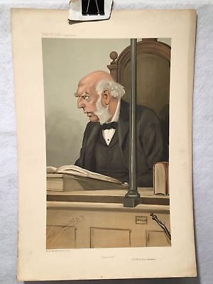 "Vanity Fair Supplement Cartoon ""Bow Street"" (R.H. Bullock Marsham) Spy 1905"