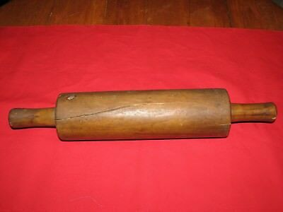 "Antique Vintage Large Rustic Solid Wood Rolling Pin 18"" Long"