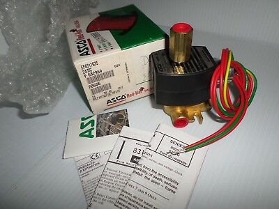 "*NEW IN BOX*  ASCO EF8317G35 3-Way NC EXPLOSION PROOF SOLENOID VALVE 1/4"" 24Vdc"