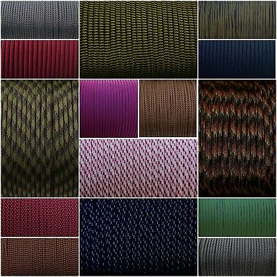 Paracord Typ 3 III 4mm 550 lb - mehrfarbig - Diamond - Tarn -Stripe -Made in USA