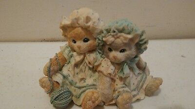 1992 Enseco Calico Kittens You're Always There When I need You Figurine #2532