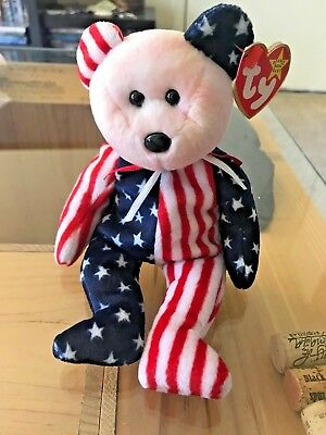 Rare 1999 TY Spangle Pink Face Beanie Baby with Multiple Errors
