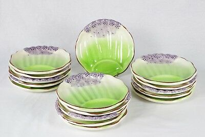 Antique French Majolica Asparagus Plates