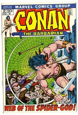 Conan the Barbarian #13 VF/NM 9.0 off-white pages  Barry Smith art  Marvel  1972