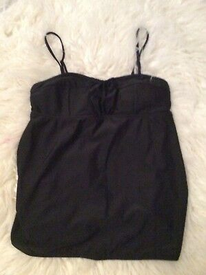 Old Navy Maternity Tankini Top Only Black Medium Padded Bathing Suit Top