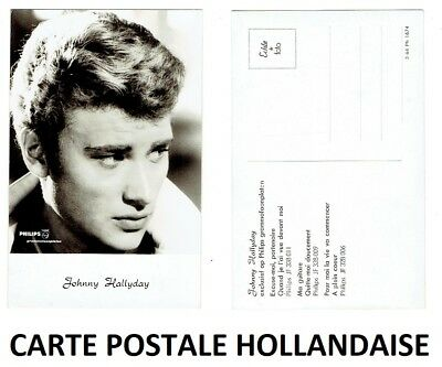 Johnny Hallyday Carte Postale Hollandaise Originale Pays-Bas Philips Holland