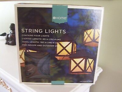 New Lantern String Lights set 4 By Target for Patio Garden etc Good size 5x4