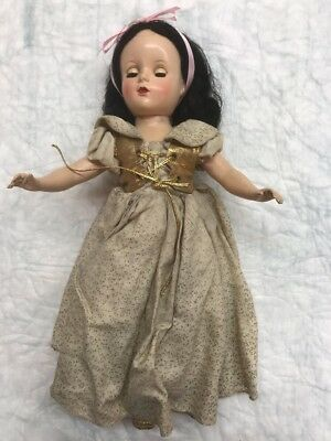 "RARE MADAME ALEXANDER SNOW WHITE DOLL 1952 Orig Tagged DISNEY 14"" Margaret Face"