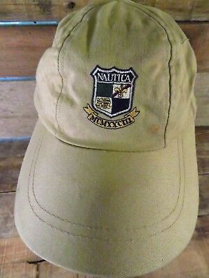 NAUTICA USA UNISEX Beige Spell-out Adult Adjustable One Size ... 40aa79d3c71b