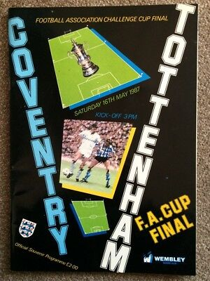Coventry City v Tottenham Hotspur FA Cup Final 1987 Football Programme