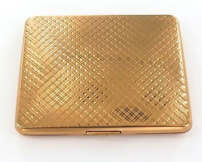 Quality / Unused / Near Mint Made In France Gold Plated Ladies Compact.