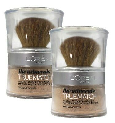 2 L'oreal True Match Mineral Powder Foundation W1 Golden Ivory - New